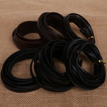 Width 3/6/10mm Flat Leather Cord Real Leather Rope String Cords for Bracelet and Necklace Jewlery Craft Making