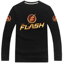 RXLZOON Hot Sell 2016 The flash T-shirt Martin star star Lab Long Sleeve Men's Guitar Cool T Shirt Printed Casual Tees