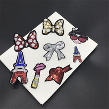 Variety of Small Iron on Applique Clothing Embroidery Patch Fabric Sticker Iron On Patch Craft Sewing Repair Embroidered Sticker(China)