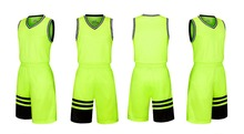 Man 2017 good quality basketball jersey sets quick dry vest game man trainning clothing breathable suit 1045(China)