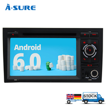 "A-Sure 7"" Radio 2 din Android 6.0 Octa 8 Core Car DVD Player GPS DAB+OBD for Audi A4 S4 RS4 2002-2008/SEAT Exeo 2GB RAM 32GB ROM(Hong Kong)"