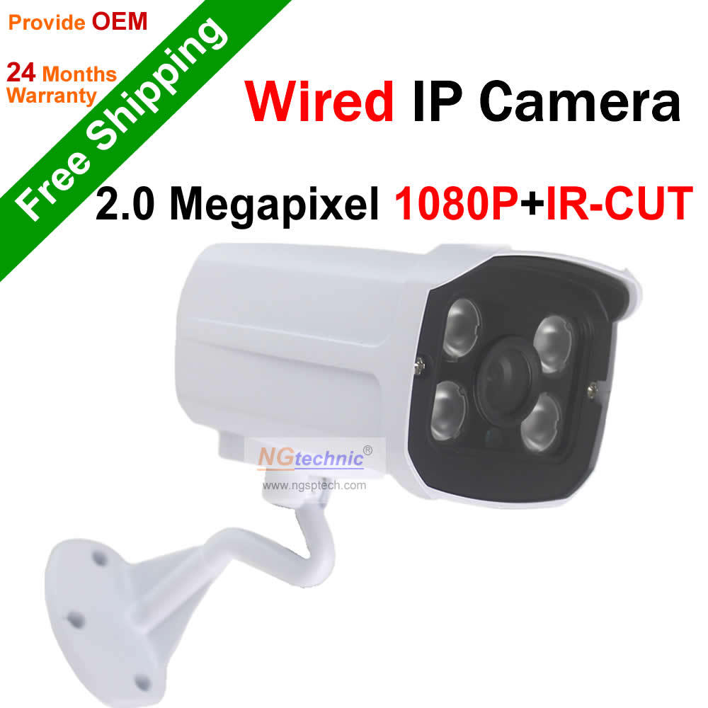 High resolution! 2.0Megapixel Full HD IP Camera waterproof outdoor Array IR Night vision 1080P Onvif Remote view Network Camera<br><br>Aliexpress