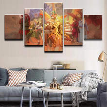 Artwork Anime Poster Modern frame Living Room Wall Art 5 Panel Naruto Characters Decorative Canvas Modular Picture Painting