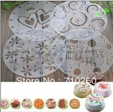 Free shipping 8inch birthday cake mould heart flower decoration 4pcs set new christmas cake(China)