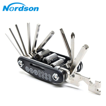 16 In 1 Multi-Function Motorcycle Bike Repair Tools Travel Kit Allen Key Multi Hex Wrench Screwdriver Kits Moto Tools(China)