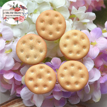 round small cookies 20PCS 15mm Resin Flatback Cabochon Miniature Food Art Supply Decoration Charm Craft DIY free shipping
