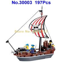 30003 197pcs Pirates Of The Caribbean Prevent Ship Building Blocks Brick Toy(China)