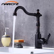 New Style Black bronze kitchen faucet 360 rotate black color sink tap cold and hot mixer tap Black retro kitchen faucet XT-131 & Retro Kitchen Faucets Promotion-Shop for Promotional Retro Kitchen ...