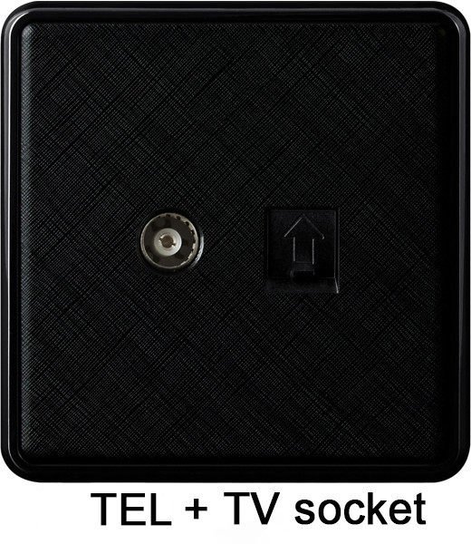 Phone + TV socket