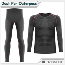 2017 Winter Thermal Underwear Sets Men Brand Quick Dry Anti-microbial Stretch Men's Thermo Underwear Male Warm Long Johns HI-Q(China)