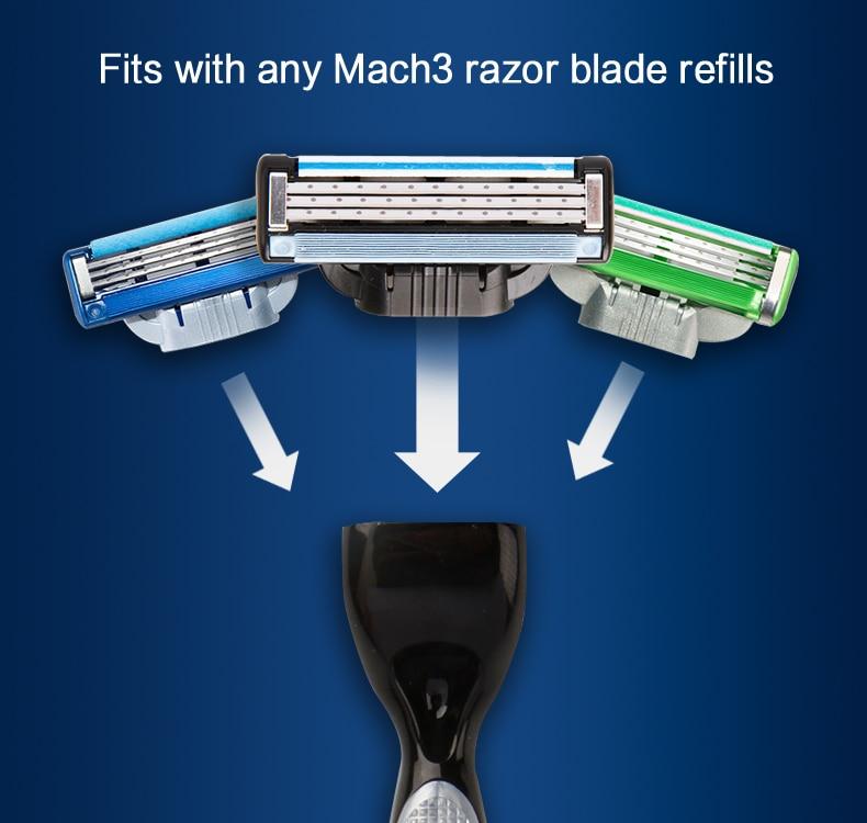 2  Gillette Mach 3 Safety Razor Shaving Razor Shaving Blades Double Edges Beard Shaver Shave 1 Razor Holder 1 Blade