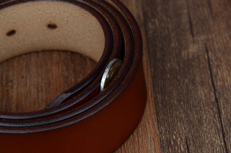 حزام COWATHER جلد طبيعي للرجال 35
