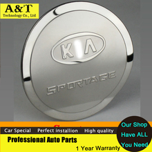 Stainless Steel Fuel/Gas/Oil Tank Cover Gas Cap Trim Fit For Kia Sportage 2008 -2013 Car Accessories high quality car styling Ca