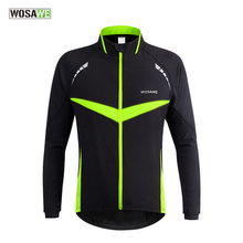 WOSAWE Cycling Jackets Men Women Long Sleeve Windproof Water Sports Jacket Running Riding Mountain Bicycle Outer Wear Coat F2430