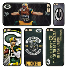 JR0504 Green Bay Packers Aaron Rodgers Phone Case For iphone X 5s SE 5c 6s 7 8 Plus Samsung s3 s4 s5 s6 s7 s8 edge Note 4 8 T043(China)