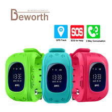 Q50 Smart Watch For Kids GPS Tracker For Children Wearable LCD Screen With SIM Card Wristwatch GSM GPRS Cell Phone Baby Watch