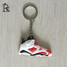 RE 100pcs/Lot jordan Keychain Cheap Price PVC Rubber Basketball Shoes Key Chain Fashion Gifts Keychains Keyring Wholesale(China)