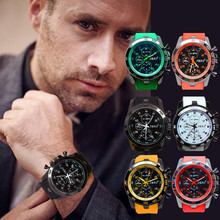 Stainless Steel Dial Clock Men Watch Luxury Sport Watches Silicone Rubber Analog Quartz Modern Men Fashion Wrist Watch