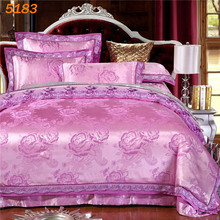 Silk comforter cover Kings cute bedding set chelsea bedding luxury satin quilt cover set discounted queen king size bed set 5183(China)