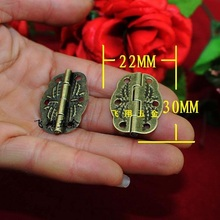 30*22MM Antique  Small hinge metal printing  Wooden boxes hinge  6 small holes Hinge  Wholesale