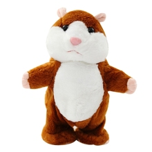 Chilren Toys 18cm Talking Hamster Pet Plush Babys Toys Cute Sound Record Hamster Girl Boy Educational Speak Walk Toy Gifts Kids