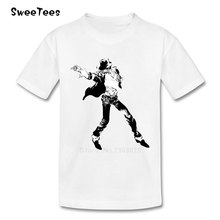 Michael Jackson children's T Shirt Cotton O Neck Short Sleeve Tshirt Tops Boys Girls 2017 Rock N Roll Star T-shirt For Baby