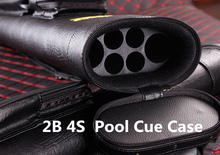 Brands 2 Butts 2 Shafts Cue Case Tube style cue bag 1/2 pool billiard cues Case Genuine leather r cue box stick(China)