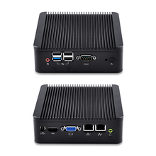 Qotom-Q190S-S02 Business Office Mini PC Industrial Nano ITX Quad Core Celeron J1900 CPU up to 2.42GHz Computer Fanless Micro PC(China)