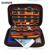 GUANHE EVA Case Protective Travel Carrying Case Cover with Carry Strap for hard drive,SSD,Nintendo 3DS,New 3DS XL/New 3DS.LL(China)