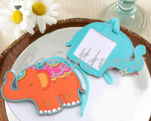 FREE SHIPPING  100PCS X Lucky Elephant Luggage Tag Favors Party Gifts Party Decoration Ideas Wedding Favors Wholesale