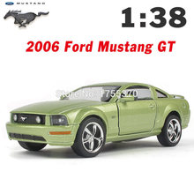 Kinsmart 2006 Ford Mustang GT 1:38 5Inch Diecast Metal Alloy Cars Toy Pull Back Car As Gift For Kids(China)