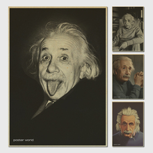 Retro kraft paper poster paintings decorative painting imagination more important than knowledge - Albert Einstein Poster