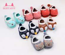 2017 New Coral Velvet Warm Newborn Baby Socks Kids Soft Non-slip with Rubber Soles Socks for Infant Boy Girl 0-5 Years