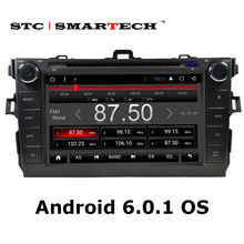 SMARTECH car stereo radio GPS navigation 2 din Android 6.0.1 car DVD player head unit for TOYOTA Corolla 2007-2011 Bluetooth OBD(China)