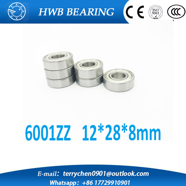Free shipping 6001ZZ 6001Z 6001 zz deep groove ball bearing 12x28x8mm  Silver Steel Sealed ball bearings <br><br>Aliexpress