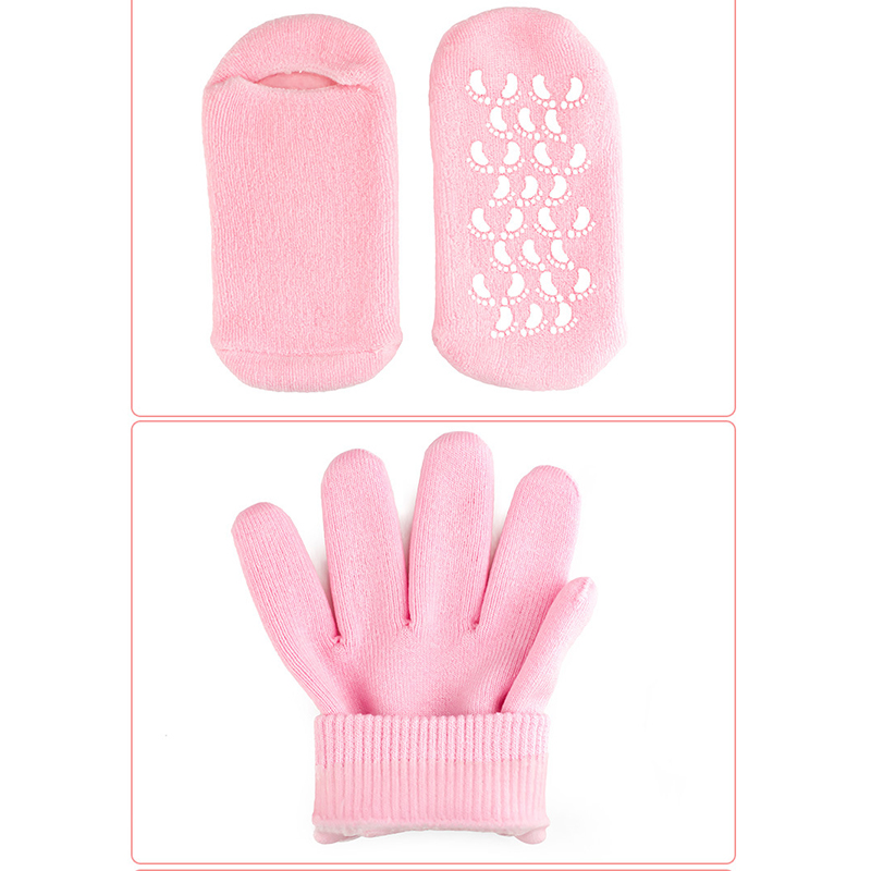 Spa Gel Gloves Silicone Moisturizing Whitening Finger Foot Glove Soft Exfoliating Hand Mask Care Repair Treatment Beauty Tool 25
