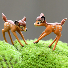 For Home Decoration Resin Crafts Artificial Mini Sika Deer Fairy Garden Miniatures Gnomes Moss Terrariums Figurines 1PC