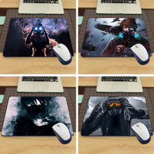 MaiYaCa mouse pad girl with gas mask Rubber Soft aming Mouse ames Black Mouse pad(China)