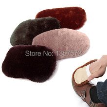 Free Shipping Household Soft Imitation Wool Polishing Shoes Cleaning Gloves Cloth Shoes Brush A2908 TVFjN