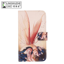 Buy LINGWUZHE Credit Card Slot Mobile Phone Protector Cover Flip PU Leather Case Argos Cat B15 Q 4'' for $4.24 in AliExpress store