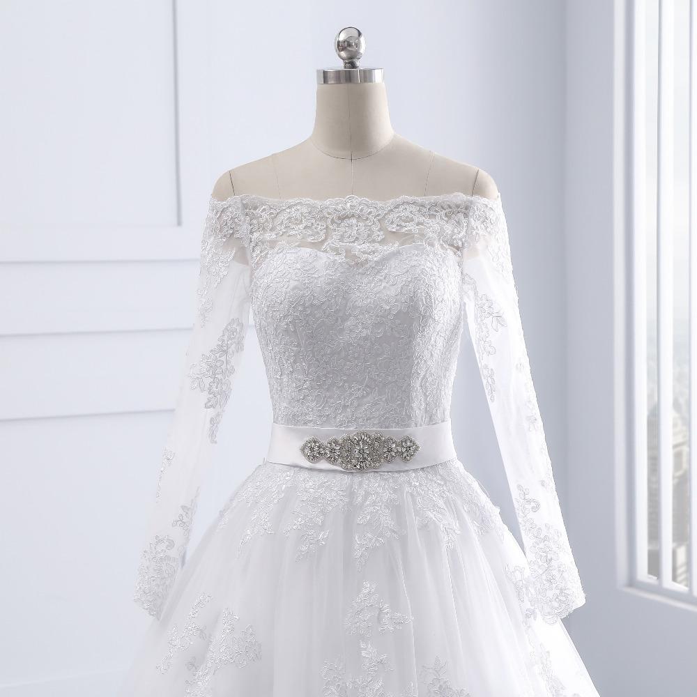 Vintage Long Sleeves Off Shoulder Princess Lace Wedding Dress - My ...