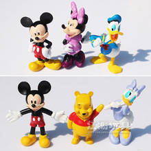 Disney Mickey Mouse Toys Mini Figure Set Winnie Anime Figurines Minnie Mouse PVC Action Figures Kids Toys For Boys Girls Gift