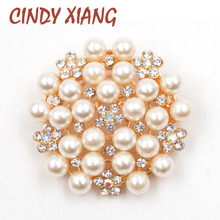 CINDY XIANG 18 styles for Choose Rhinestone Flower Brooches for Women Wedding Bouquet Brooches Fashion Brooch Pin Cheap Price