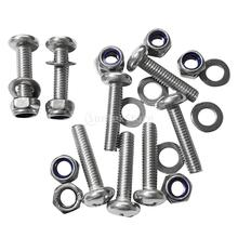 8 Pieces Marine Kayak Canoe Fishing Boat Dinghy Stainless Steel Screws Bolt Nuts Washers Hardware Kit Accessories M6
