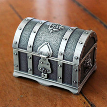 Free Shipping - Pirates of the Caribbean Treasure Chest Box Fashion Metal Jewelry case trinket gift alloy box