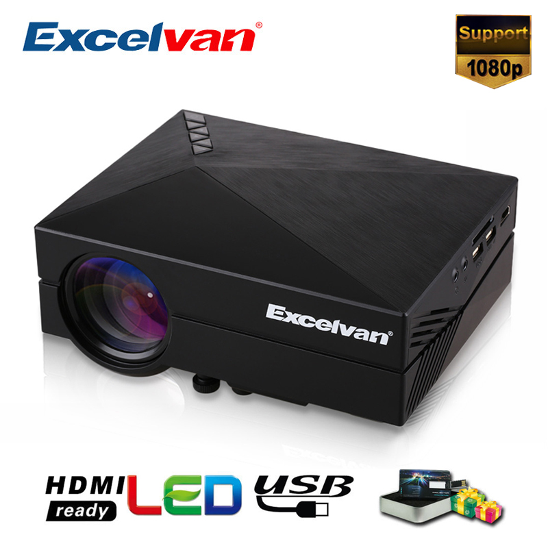 Excelvan GM60 MINI Portable LED Projector For Video Games TV Home Theater Movie Support HDMI VGA AV SD 1000 Lumens(China)