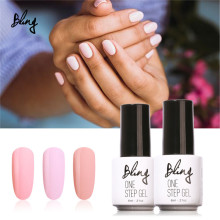 Bling 3 in 1 UV Gel Soak Off UV One Step Nail Gel Polish 6ml No Need Top Base Coat For Nails Art vernis semi permanent