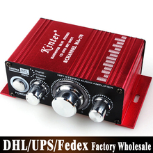 Free DHL Fedex 50pcs/lot kinter ma-170 DC12V mini 2.0 20w+20w audio motorcycle Car amplifier(China)