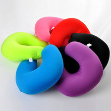 New Inflatable Travel Pillow Air Cushion Neck Rest U-Shaped Compact Plane Flight Hot