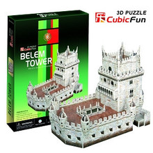 candice guo! 3D puzzle toy CubicFun paper model jigsaw game DIY toy belem tower C711h 1pc(China)
